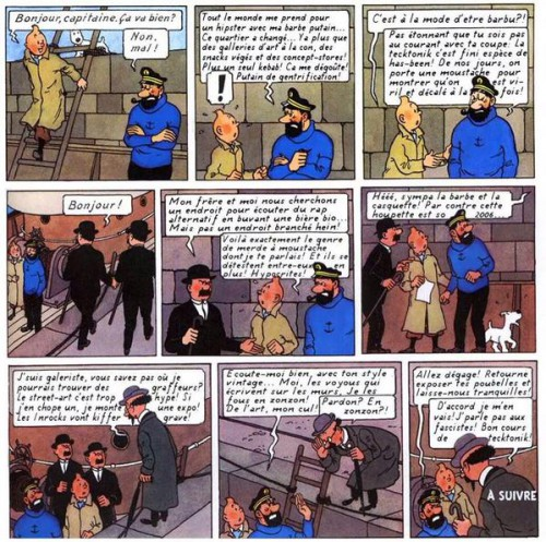 Tintin chez les Hipsters